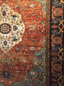 orange patterned rug