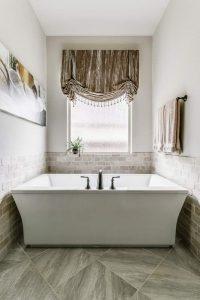 bathtub and window shade